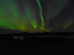 Auroras boreales desde Islandia