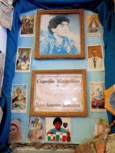 Nápoles, altar a Maradona