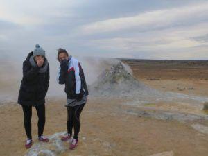 Coladas de lava de Leirhnjukur, en ruta por Islandia
