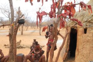 Poblado Himba, Namibia