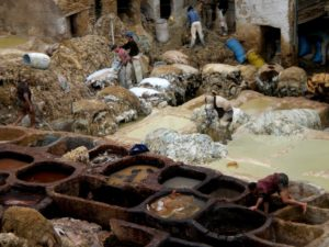 Curtidurías de Fez, Marruecos
