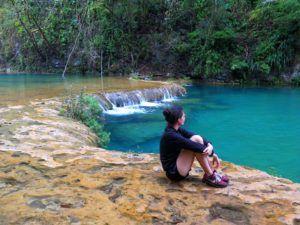 Admirando Semuc Champey, Guatemala
