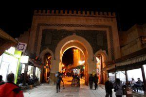 Puerta Balo Bou Jeloud, Fez, Marruecos