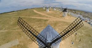 Molinos de Viento de La Mancha a vista de Dron
