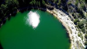 Laguna de la Gitana desde nuestro Dron