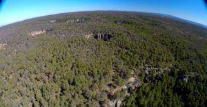 A vista de Dron Tierra Muerta y Palancares, Cuenca