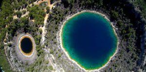 Las lagunas de Cañada del Hoyo a vista de Dron