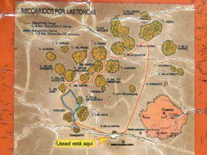 Mapa de Tierra Muerta y Palancares con sus Torcas