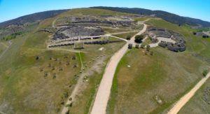 Ruinas de Segóbriga a vista de Dron