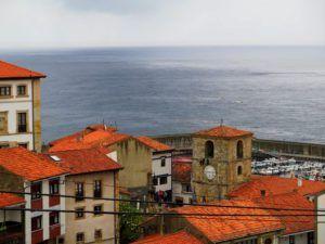 Vistas de Lastres desde el mirador de San Roque, Asturias