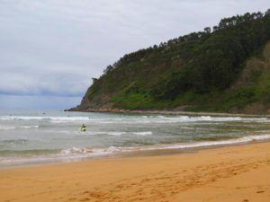 La playa de los Rodiles, Asturias