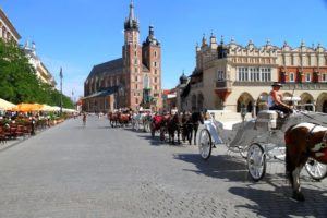 Plaza del Mercado, Cracovia, Polonia