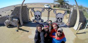 Entrada a la Skeleton Coast, Namibia