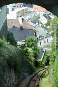 Funicular Flolbanen, Bergen, Noruega