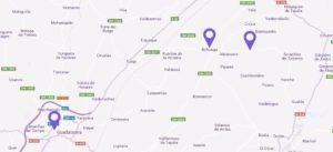 Mapa de como llegar al Festival de la lavanda de Brihuega