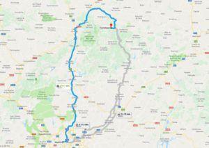 Mapa para llegar al Hayedo de Tejera Negra