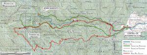 Mapa de las rutas del Hayedo de Tejera Negra