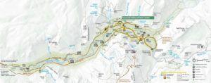 Mapa del Parque Nacional de Yosemite, EEUU