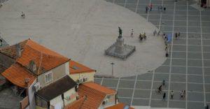 Vistas desde la Catedral de San Jorge, Piran, Eslovenia