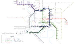 Mapa del Metro de Bangkok
