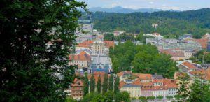 Vistas desde el Castillo Liubliana, Eslovenia