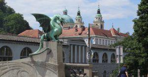 Puente de los Dragones, Liubliana, Eslovenia
