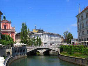 Rio Ljubljanica, Liubliana, Eslovenia