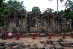 La Terraza de los Elefantes, Angkor, Camboya