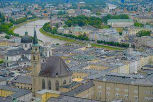 Vistas sobre la ciudad de Salzburgo