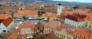 La Piata Mica o Plaza Pequeña, Sibiu, Rumania