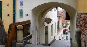 Callejón de las escaleras, Sibiu, Rumania