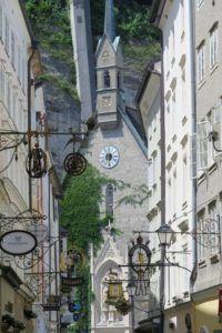Calle Getreidegasse, Salzburgo, Austria