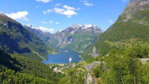 Vistas del Fiordo Geirangerfjord, Noruega