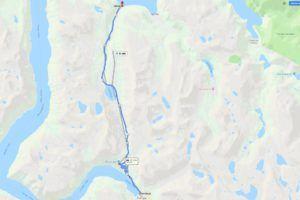 Mapa de la carretera de las Aguilas
