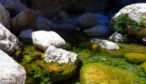 Pozas de agua en la Gola di Gorropu