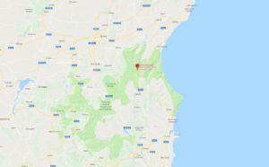 Localización de la Gola di Gorropu
