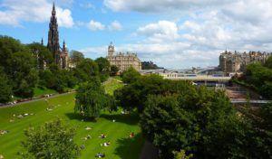 Vistas desde los Jardines de Princess Street