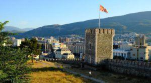 La fortaleza de Skopie, Macedonia