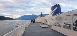 Ferry camino a la Isla de Vancouver