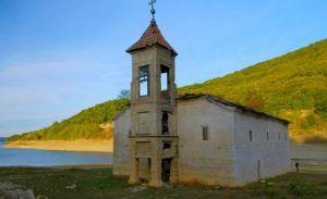 Iglesia sumergida de Mavrovo, Parque Nacional de Mavrovo