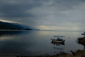 Embarcadero del lago Ohrid, Macedonia