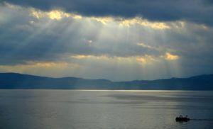 El lago Ohrid, Macedonia