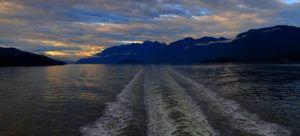Pasisaje desde el ferry camino a la Isla de Vancouver