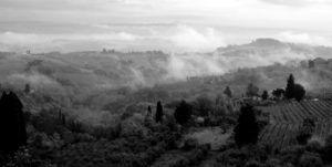 Vistas desde Via degli innocenti,San Gimignano