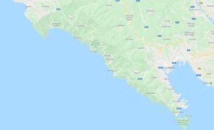 Mapa de las Cinque Terre, Italia