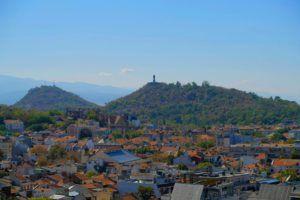 Vistas desde el Complejo arqueológico de Nebet Tepet, Plovdiv