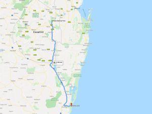 Hlane, cómo llegar desde Santa Lucia, Sudáfrica