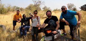 Safari a pie por las orillas y delta del rio Okavango