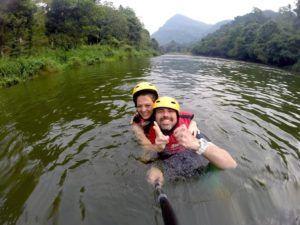 Rafting en el rio Kelani, Sri Lanka