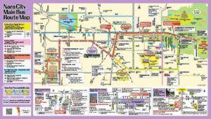 Mapa Turístico de Nara, Japón